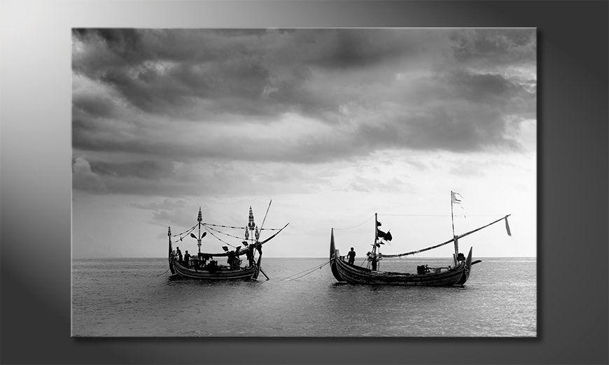 La bonita pintura Fishing Boats