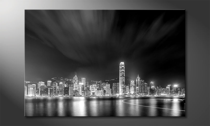 La-bonita-pintura-Hongkong-At-Night