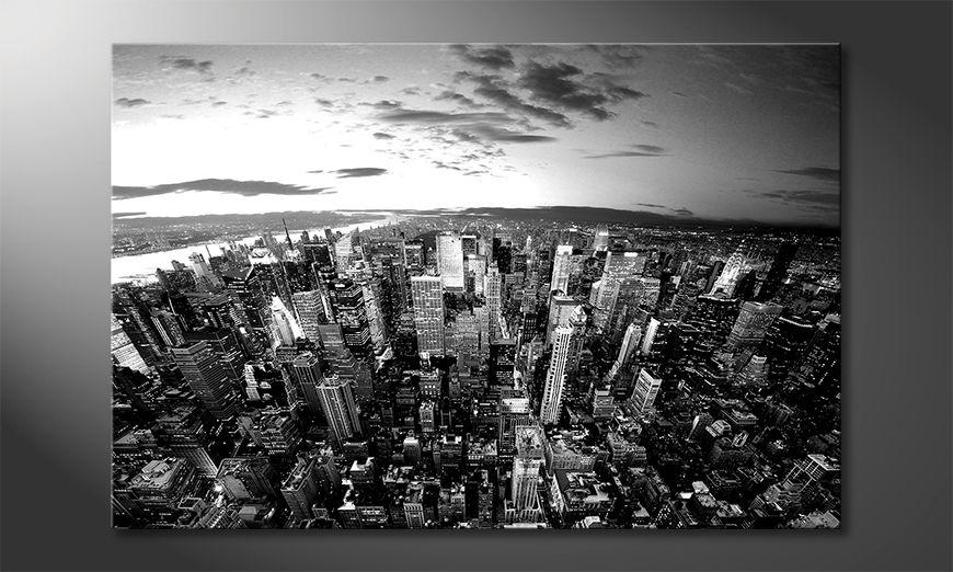 La bonita pintura New York Sky