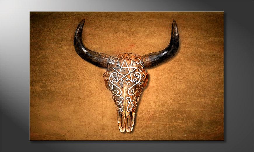 La cuadro impresa Bison Skull