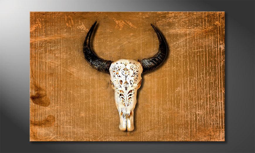 La cuadro impresa Buffalo Head