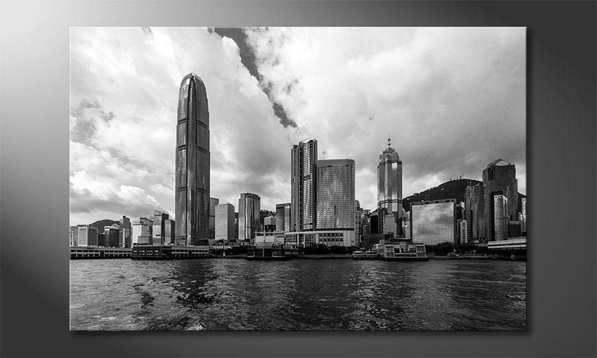 La cuadro impresa Hongkong Skyline