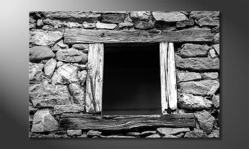 La cuadro impresa Wooden Windows