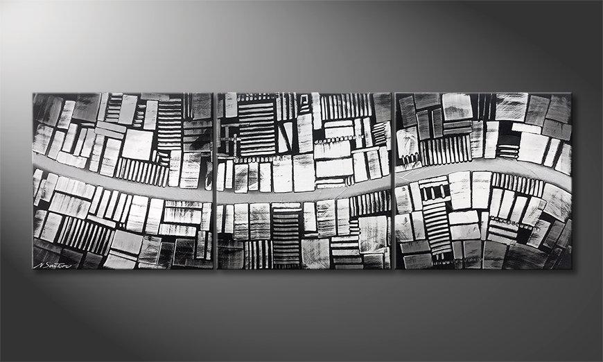 Arte moderno Downtown 180x60x2cm