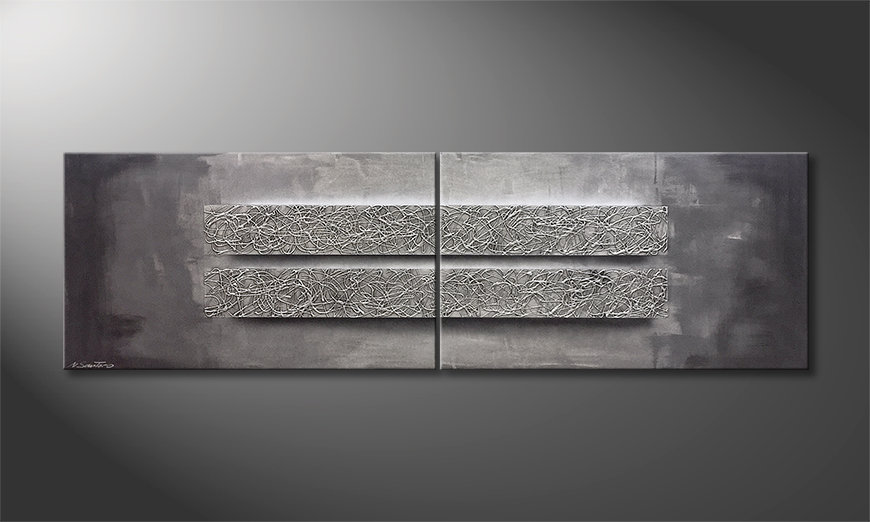 Arte moderno Energy Blocs 200x60x2cm