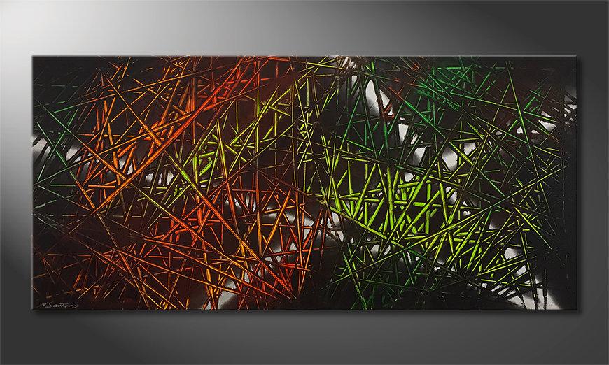 Arte moderno Jungle Fever 150x70x2cm