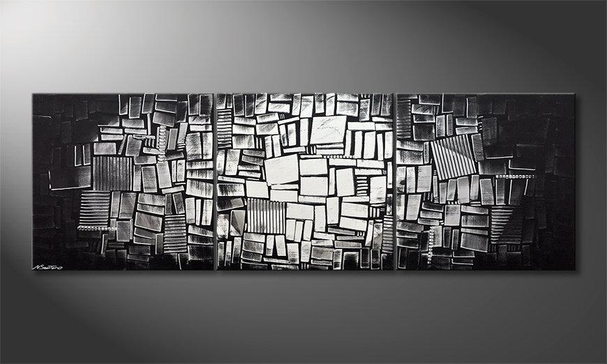 Arte moderno Moon Dices 240x80x2cm