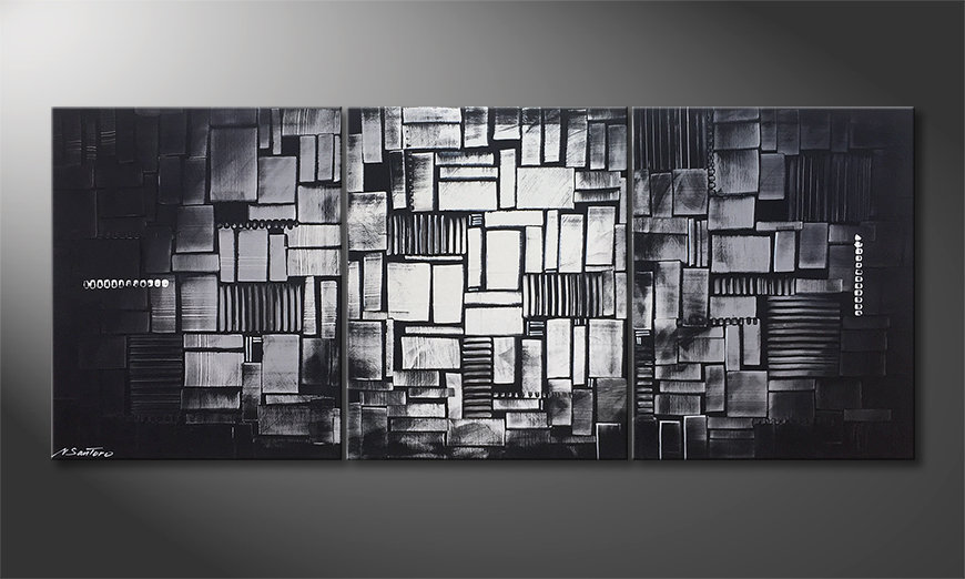 El cuadro Cubic Moonshine 180x70x2cm