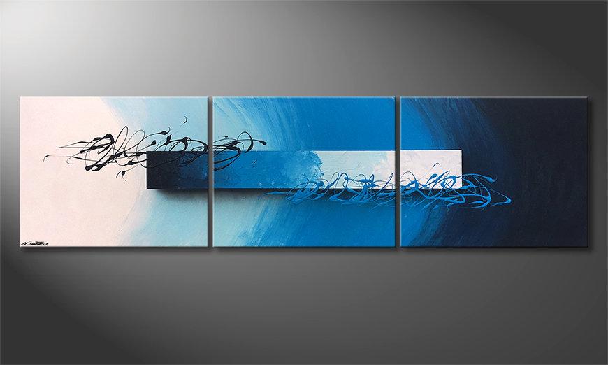 El cuadro Deep Sea Signs 225x60x2cm