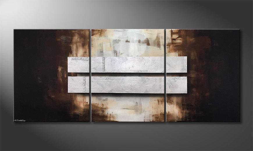 El cuadro Fortunate Silver 210x90x2cm