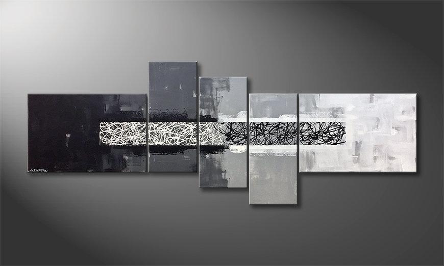 El cuadro From Black To White 230x90x2cm