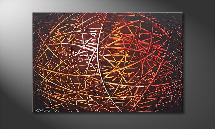 El cuadro Glowing Stripes 120x80x2cm