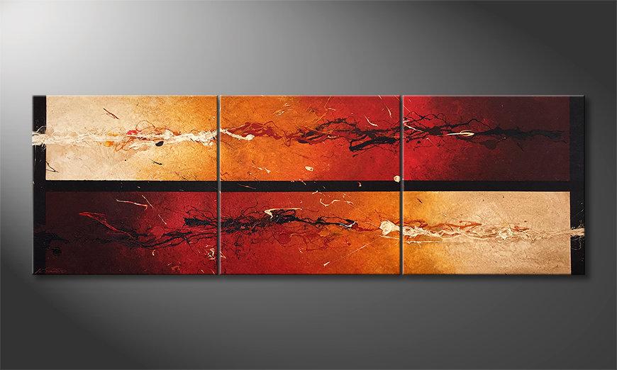 El cuadro Heat Combat 210x70x2cm