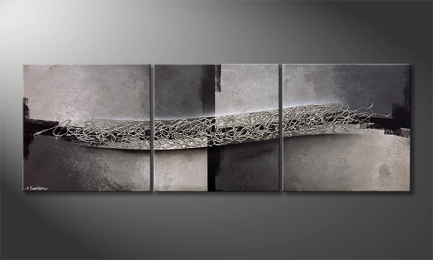 El cuadro Light And Shade 210x70x2cm