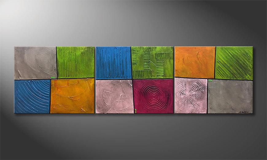 El cuadro Mind Garden 210x60x2cm