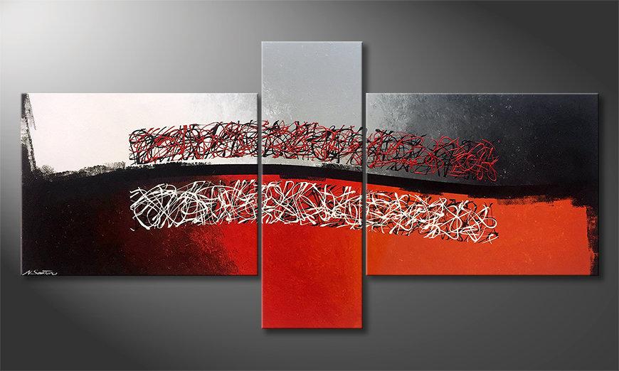 El cuadro Mirrored Emotion 220x110x2cm