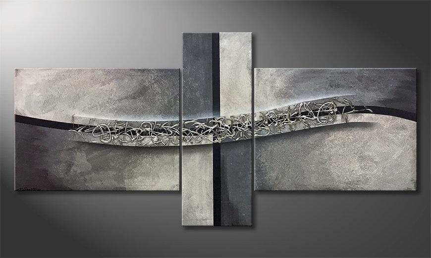 El cuadro Swinging Silver 220x110x2cm