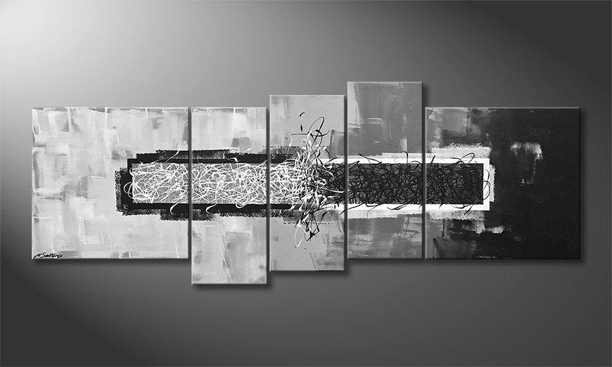 El cuadro moderno Clash Of Contrast 210x80x2cm