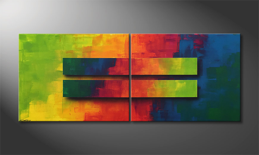 El cuadro moderno Colored Boxes 200x80x2cm