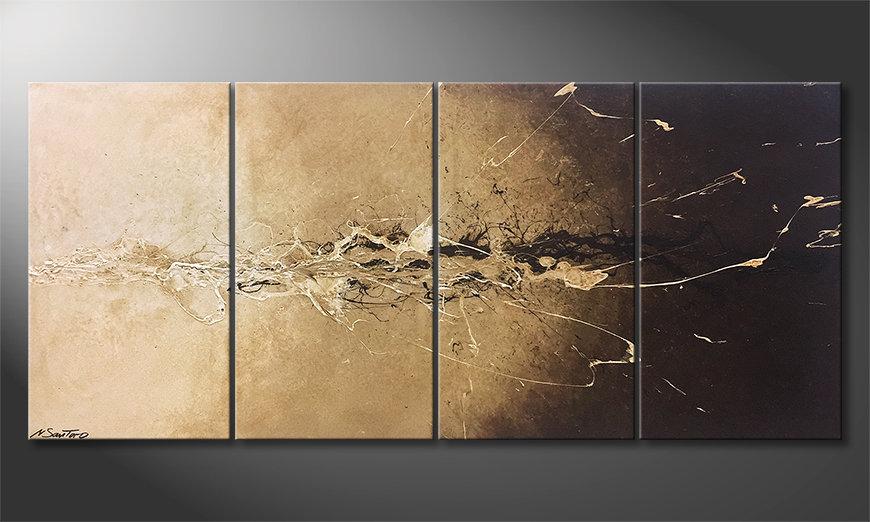 El cuadro moderno Earth Splash 160x70x2cm