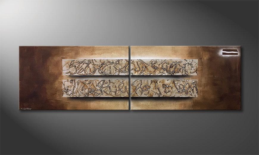 El cuadro moderno Former Traces 200x60x2cm