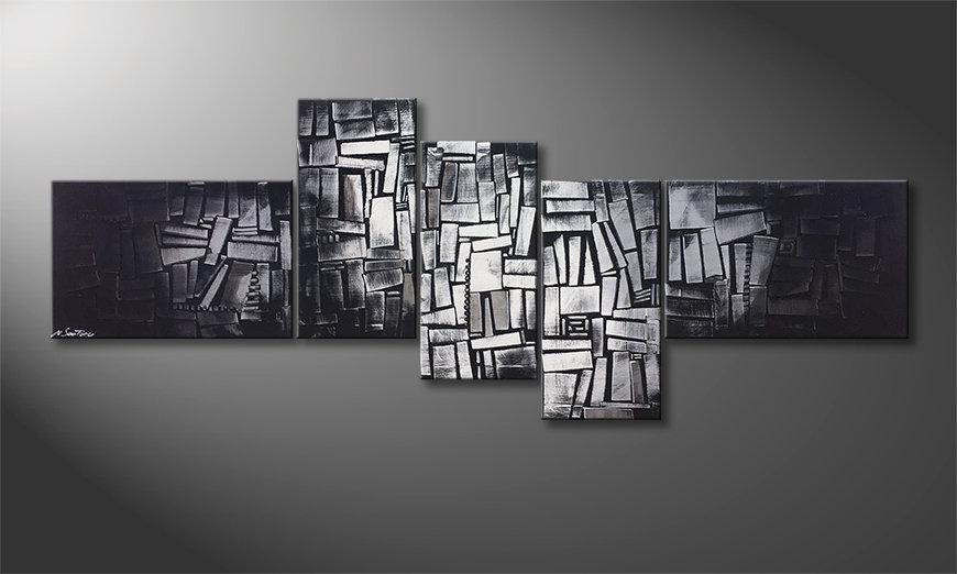 El cuadro moderno Light Cubes 210x80x2cm
