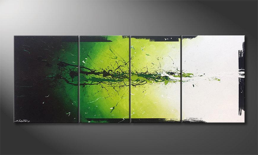 El cuadro moderno Liquid Green 180x70x2cm