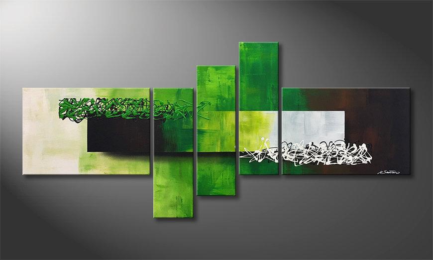 El cuadro moderno Playful Meadow 210x80x2cm
