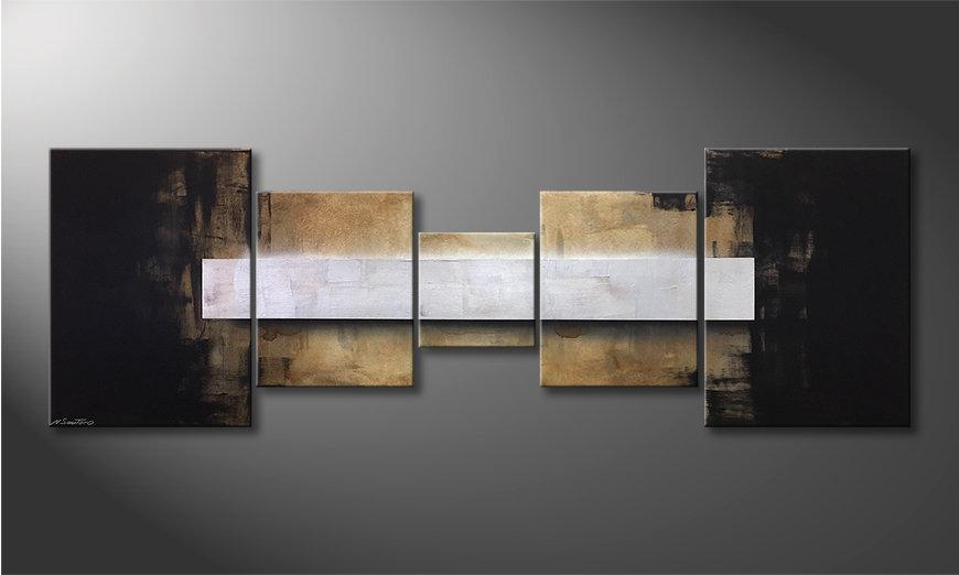 El cuadro moderno Shinning Silver 210x70x2cm