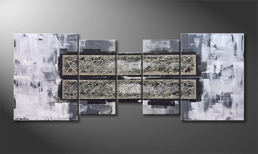 El cuadro moderno Warm Coldness 180x70x2cm