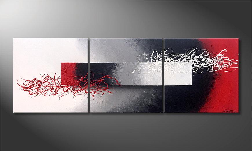 El cuadro para la sala Disengaged Mood 180x60x2cm