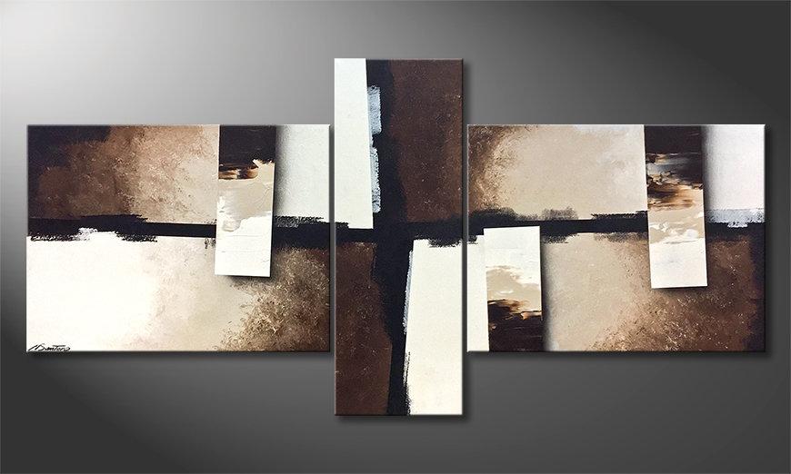 El cuadro para la sala Earth Pieces 220x110x2cm