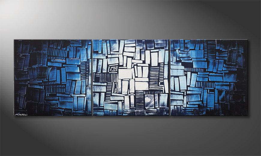 El cuadro para la sala Ice Cubes 210x70x2cm