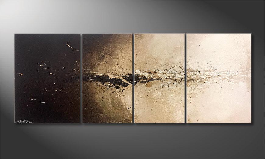 El cuadro para la sala Liquid Earth 180x70x2cm