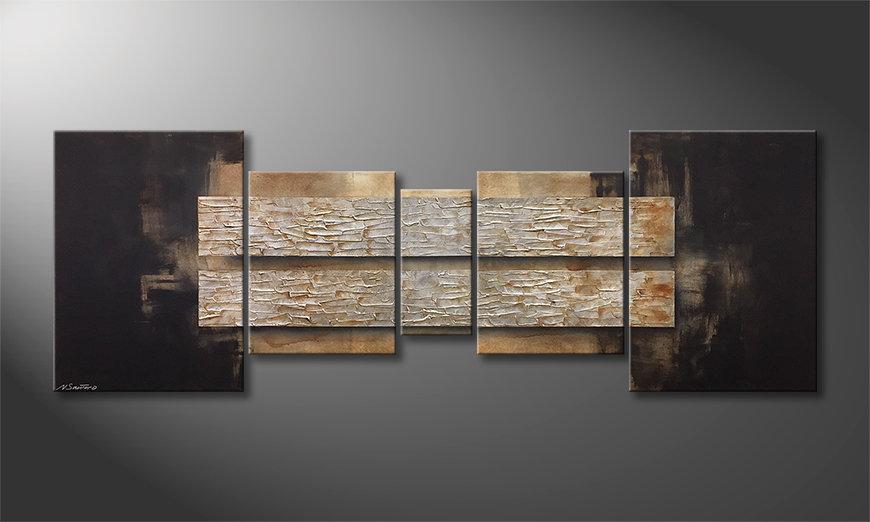 El cuadro para la sala Lost Silver 200x70x2cm