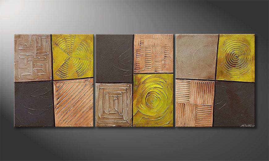 El cuadro para la sala Moods Of Earth 180x70x2cm