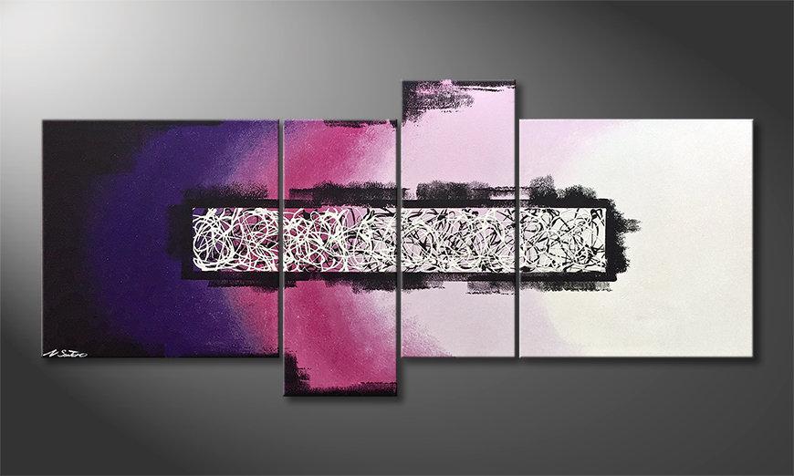El cuadro para la sala Purple Connection 180x80x2cm