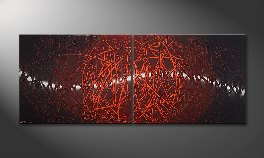 El cuadro para la sala Red Push 2.0 200x80x2cm