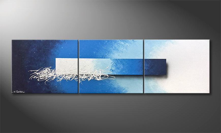 El cuadro para la sala Water Melody 180x60x2cm