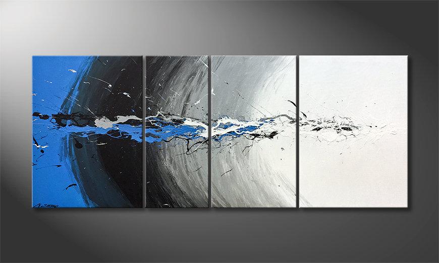 La bonita pintura Blue Light Splash 170x70x2cm