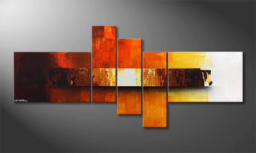La bonita pintura Fiery Illumination 210x80x2cm