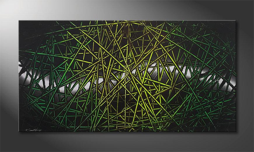 La bonita pintura Green Rumble 140x70x2cm