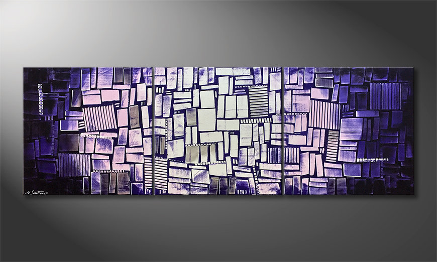 La bonita pintura Purple Moon 210x70x2cm