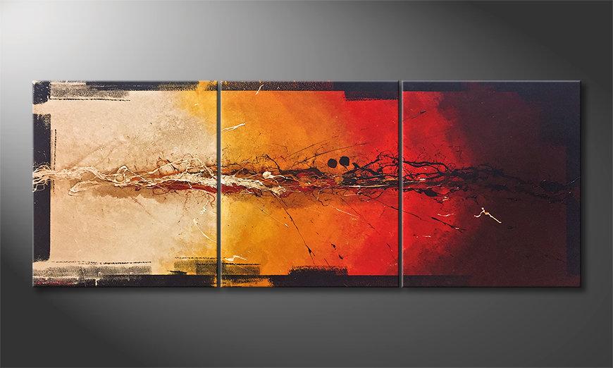 La bonita pintura Set On Fire 180x70x2cm