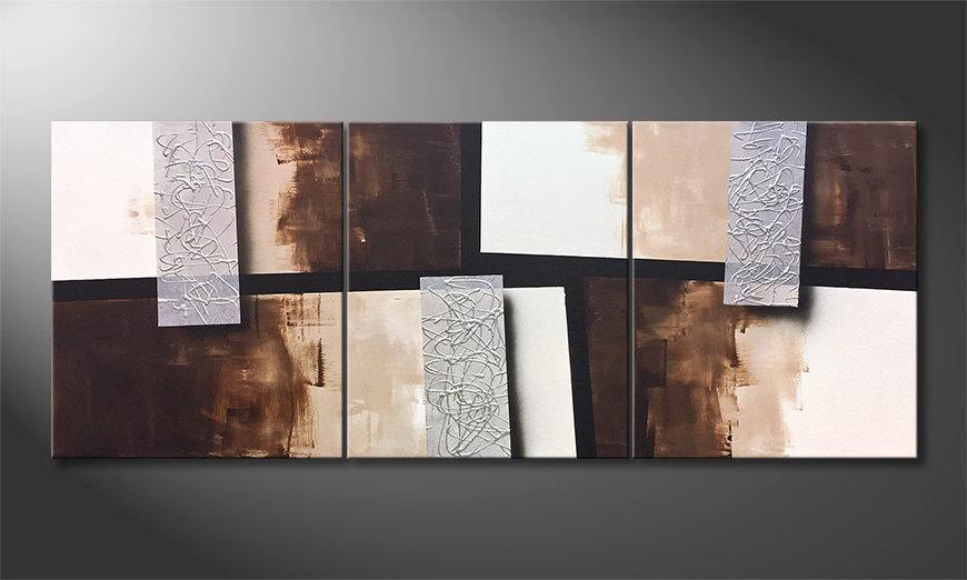 La bonita pintura Silver Stacks 180x70x2cm