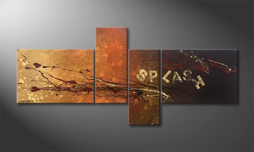 La bonita pintura Splash 200x90x2cm