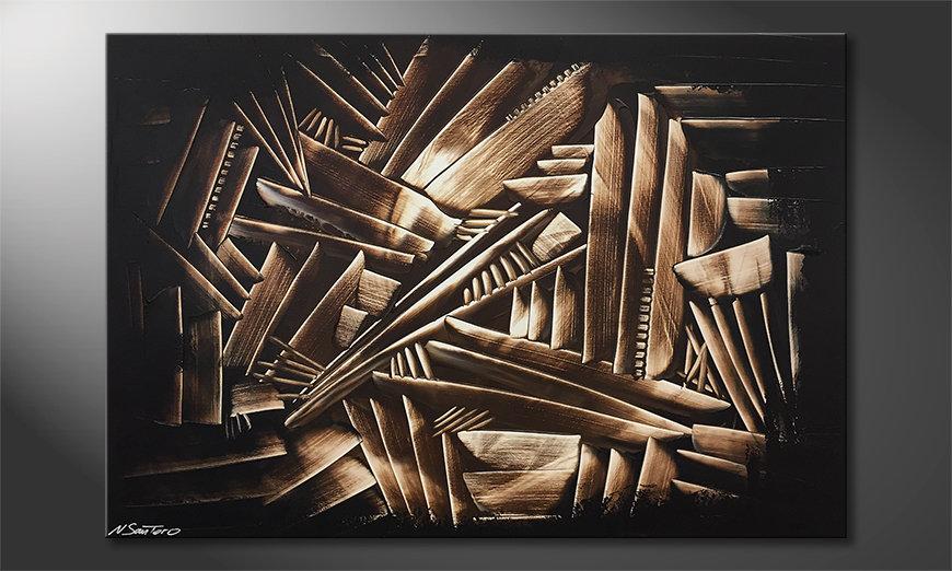 La bonita pintura Wooden Construct 120x80x2cm