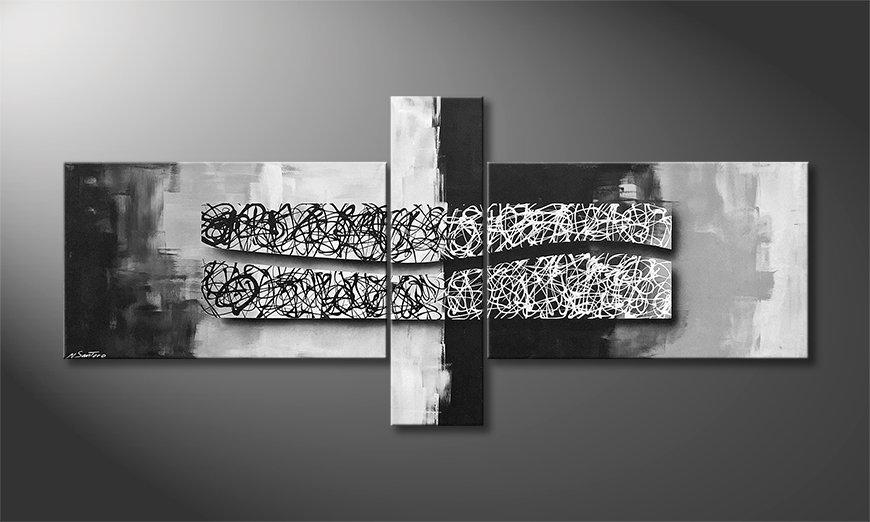 Nuestro cuadro Black On White 230x100x2cm