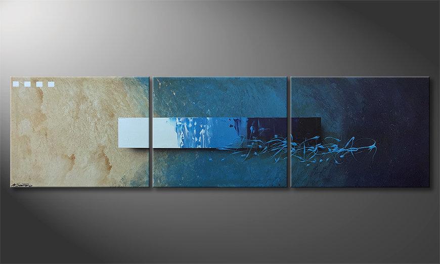 Nuestro cuadro Deep Water Signs 225x60x2cm
