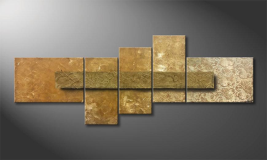 Nuestro cuadro Golden Treasure 210x80x2cm